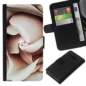 All Phone Most Case / Oferta Especial Cáscara Funda de cuero Monedero Cubierta de proteccion Caso / Wallet Case for Samsung Galaxy Core Prime // Petals Light Pink Close Up Blossom