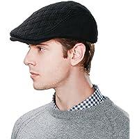 SIGGI Mens Winter Wool newsboy Cap Adjustable Cold Weather Flat Cap Soft Lined