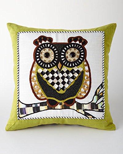 MacKenzie-Childs Owl Pillow, Brand New, 100% Authentic 16''Sq. by MacKenzie-Childs