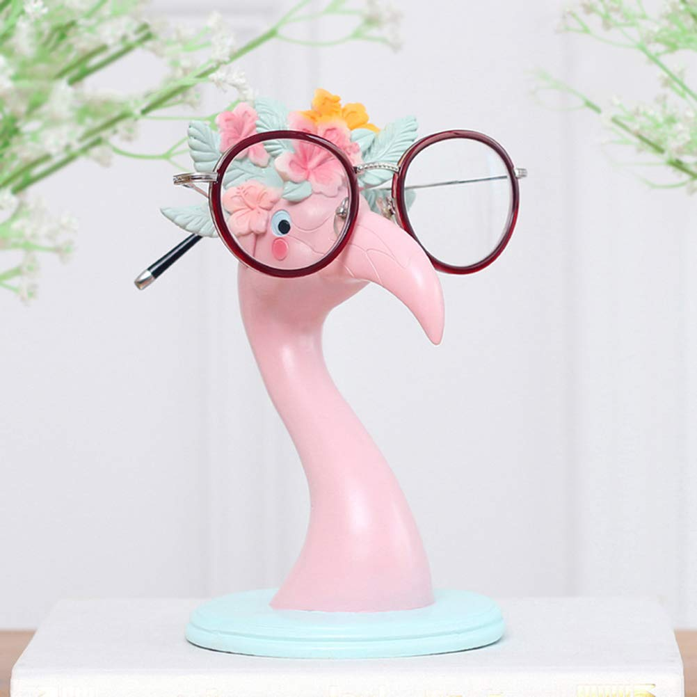 YeahiBaby Pink Flamingo Ornaments Eyeglass Display Holder Glasses Display Shelves Love Bird Flamingo Figurine Statues Home Office Desktop Decoration by YeahiBaby (Image #6)