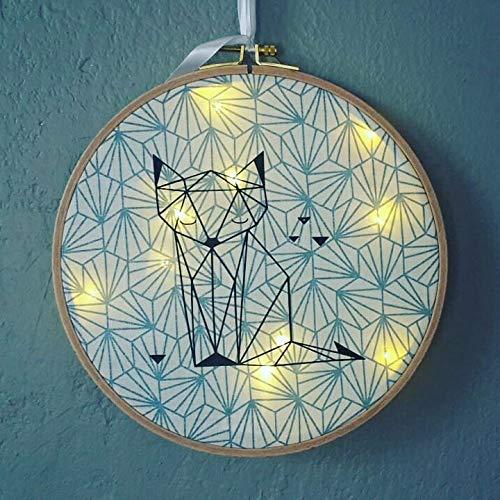 tambour lumineux, décoration chambre bébé enfant, motif ...