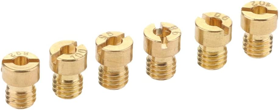 FLAMEER 10Pcs Copper Carburetor Main Jet Kit Slow//Pilot Jet 125 130 /& #50#52 for PWK Keihin OKO CVK