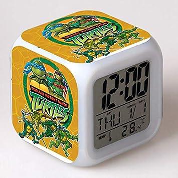 Amazon.com: TMNT Turtles LED 7 Colors Change Digital Alarm Clock Thermometer Night Colorful Glowing Teenage Mutant Ninja Turtles Xmas Toys: Home Audio & ...