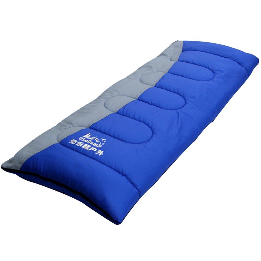 wangmyキャンプ寝袋封筒型寝袋アウトドアスリーピングバッグキャンプ、ハイキング、アウトドアSleepingバッグLunch Breaksスプライス防水グレーブルーモザイク色 B07BWGN14F