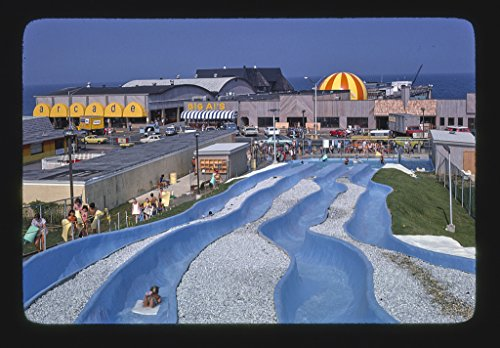 Vintography 16 x 24 Photo of Water Slide, Long Branch, New Jersey 1978 Ready to Frame 60a ()