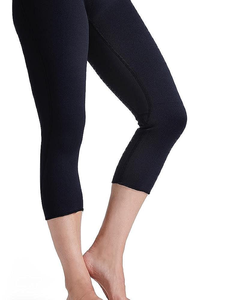 Zaggora Hot Pants High Rise Capri Black Thermo Slimming Leggings