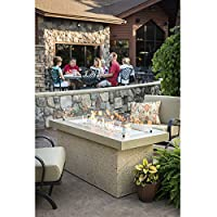 Key Largo Crystal Fire Pit with Brown Su...