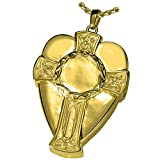 Memorial Gallery 3309gp Celtic Warrior Cross and Shield 14K Gold/Silver Plating Cremation Pet Jewelry