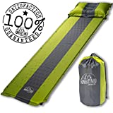 Kingsley Wild Outdoors Self Inflating Sleeping Pad and Pillow (Detachable)- Perfect Mat for Tent Camping, Hiking, or Backpacking- Comfortable, Compact, Waterproof and Easily Portable