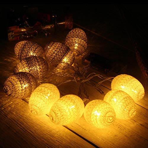 H+K+L 1.8M 10Pcs Easter Egg Battery Operated Led