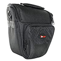 Focus Deluxe SLR Short Zoom Soft Shell Camera Case with Shoulder Strap and 3 Dividers