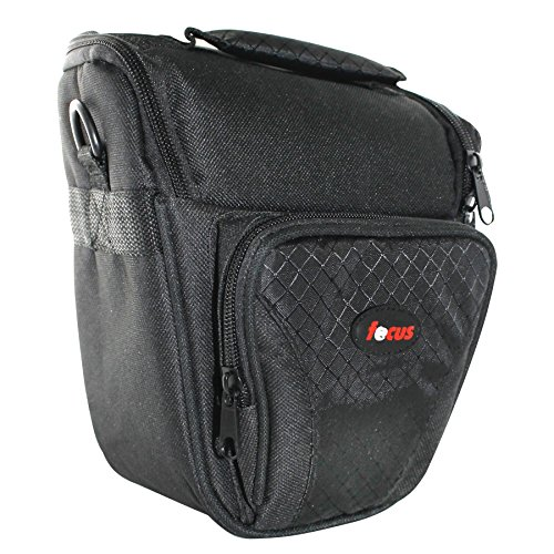Focus Deluxe SLR Short Zoom Soft Shell Camera Case with Shoulder Strap and 3 Dividers by Focus Camera