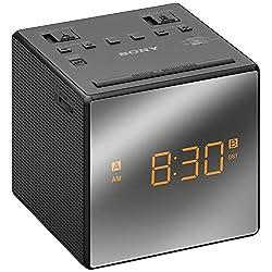 Sony ICF-C1T Desktop Alarm Clock AM FM Radio Black Automatic Set Up - NEW