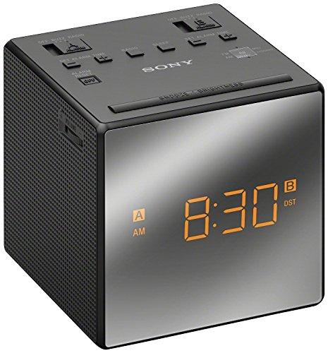 Sony Icf C1t Desktop Alarm Clock Am Fm Radio Black Automatic Set Up   New