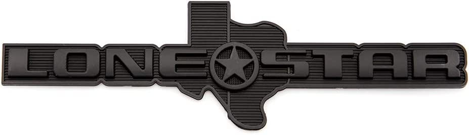 Black 1x Texas Edition Lone Star Emblem Rear Badge Sticker Decal Fit For Chevrolet Chevy F150 Ram 1500 2500 3500