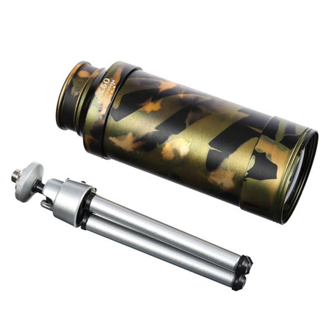 YY3 10x50 Hochleistungs-Messing-Monokular für Erwachsene - Ausgestattet mit Stativ