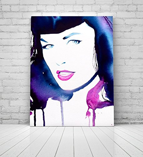 Fine Art Print Bettie Page Indigo Pink Pin-up Girl '50s Rockabilly Salon Decor Ideas - Museum Rockabilly