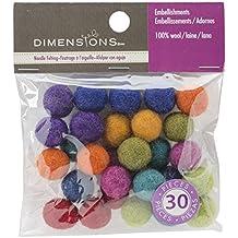 Dimensions Crafts 72-74019 Wool Ball Assortment for Needle Felting, Mini