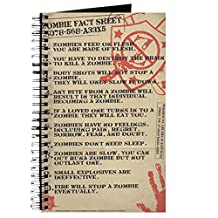 CafePress - Zombie-Fact-Sheet - Spiral Bound Journal Notebook, Personal Diary, Blank