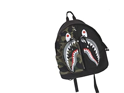 Bape Shark Backpack >> Amazon Com Nimoo Bape Camo Shark Men S Backpack Cool Travel