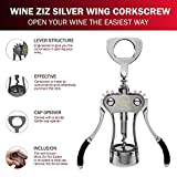 Wine Ziz Large Silver Wing Corkscrew Bottle Opener
