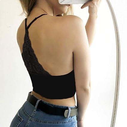 Chalecoes Mujer, ❤ Modaworld Lencería Sexy para Mujeres Strappy Sujetadores Tops de Encaje Camisetas sin Mangas Crop Tops Ropa Interior Lencería de Noche ...