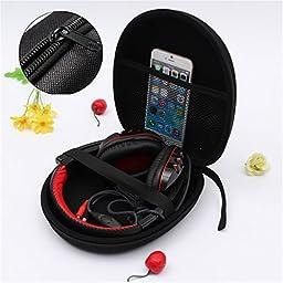 ELEGIANT Headphone Earphone Headset Carry Case Storage Bag for Sony V55 NC6 NC7 NC8 MDRZX310 Sennheiser HD 202 Bose AE2w Grado SR80 MDR-ZX100 ZX110 ZX300 ZX600 MDR-10RBT HD218 HD228 HD238
