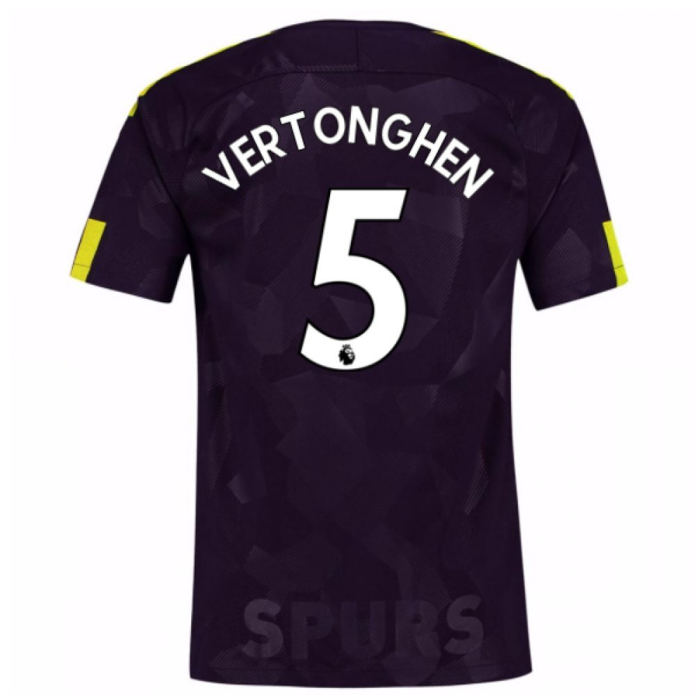 2017-18 Tottenham Third Football Soccer T-Shirt Trikot (Jan Vertonghen 5)