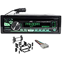 Package: JVC KD-R860BT Car Stereo Receiver With AM/FM, CD/USB/Bluetooth, iPhone/Android + Metra 99-5700 Jeep In-Dash CD Player Mounting Kit + Metra 70-1002 Jeep Into Car Wire Harness