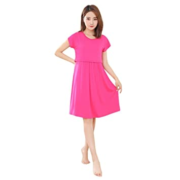 Hongxin Vestido de maternidad, vestido largo de maternidad, vestido de lactancia para mujeres embarazadas
