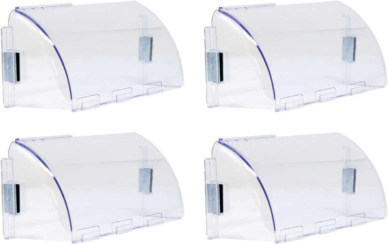 Air Vent Deflectors (4 PK, 4.3 Inch x 10-14 Inch) AC Vent Deflector for Ceilings and Sidewalls with Adjustable Length. Air Conditioner System Vent Diverter and Heat Redirector with Magnetic Attachment