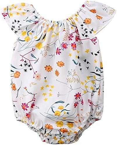 Baby Girls Clothing Infant Baby Girls Floral Sleeveless Summer Jumpsuit Romper Clothes Outfits Set