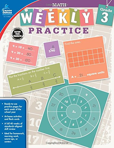 Math, Grade 3 (Weekly Practice) (Daily Math Practice Grade 3)