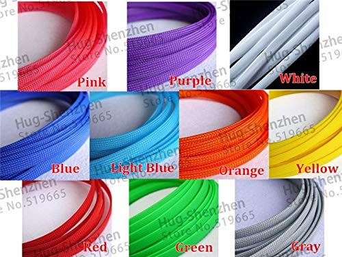 ShineBear 100M Cable Sleeves 10mm 10 Colors Snakeskin Mesh Wire Protecting Nylon Tight PET Expandable Insulation Sheathing Braided Sleeves - (Cable Length: PET, Color: Blue) by ShineBear