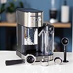 Molino-Macchina-per-caffe-espresso-con-portafiltro-macchina-da-caffe-con-montalatte-integrato-pestello-e-misurino-facile-da-usare