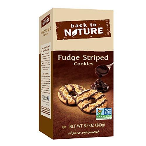 Back to Nature Non-GMO Fudge Striped Shortbread Cookies, 8.5 Ounce