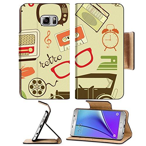Luxlady Premium Samsung Galaxy Note 5 Flip Pu Leather Wallet Case Note5 (Swirl Candlestick)