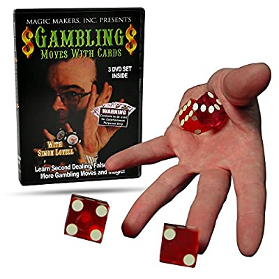 Magic Makers Gambling Moves with Cards, Complete Course in Gambling Moves, Instructional Magic Training: Toys & Games