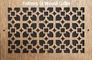 """18 x 14 Maple Wood Air Grille/Air Return. Pattern \""""Q\"""". PC"""
