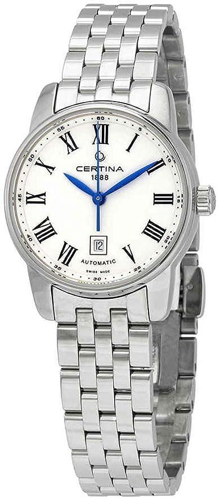 Certina DS Podium C001.007.11.013.00 - Reloj automático para Mujer, Esfera Blanca