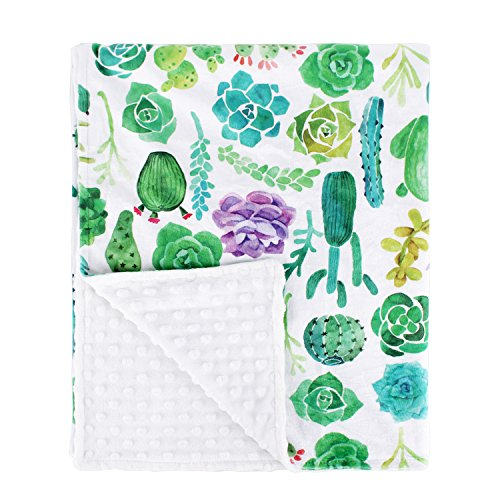 YIQIGO Watercolor Texture with Succulent Cactus Plant Baby blanket Swaddle Kid Toddler Blanket (Purple (Baby Blanket Color)