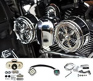 Love Jugs Polished Vibration Master Cooling Fan Iso Mount Dampener Harley Custom
