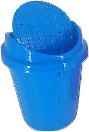 D2B7 Mini Small Waste Bin Desktop Garbage Basket Table Home Trash Can Roll Swing