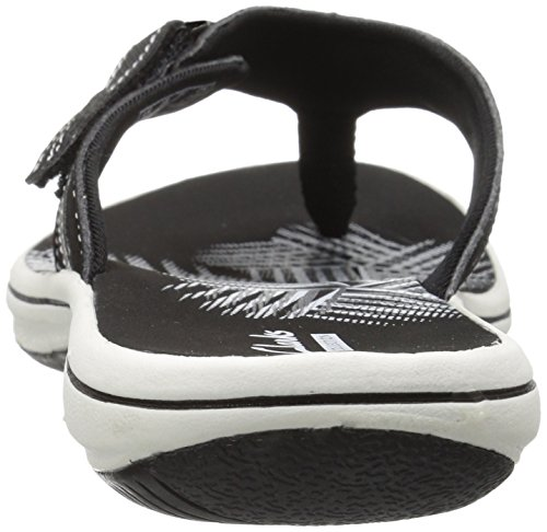 CLARKS Women's Breeze Sea Flip Flop, New Black Synthetic, 8 M US by CLARKS (Image #9)