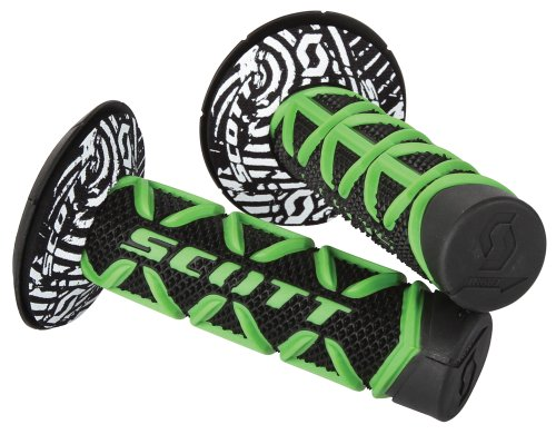 Scott Sports 219626-1089 Green/Black Diamond Motorcycle Grips by Scott Sports