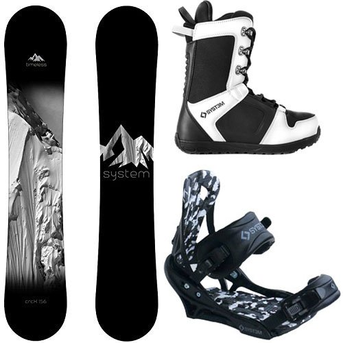 System Package Timeless Snowboard 153 cm-APX Binding 2019 APX Snowboard Boots-8 (Best Freestyle Bindings 2019)
