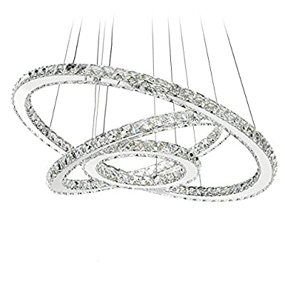 MEEROSEE Crystal Chandelier Lighting Modern Ceiling Light Fixtures
