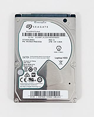 Seagate 2TB Laptop HDD SATA III 2.5-Inch Internal Bare Drive 9.5MM (ST2000LM003) by SEAGATE