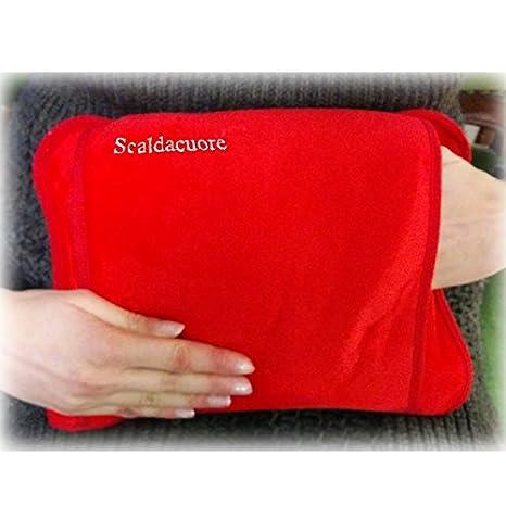 Scaldacuore - Bolsa de agua caliente eléctrica de lujo roja