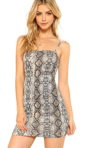 Floerns Women's Summer Snakeskin Print Mini Cami Bodycon Dress Multi XS